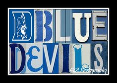 Duke Blue Devils Print by a2zphotography on Etsy