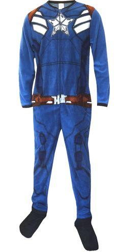 WebUndies.com Marvel Comics Captain America Winter Soldier Uniform Onesie Pajama