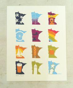 MN Months Art Print - Adam Turman