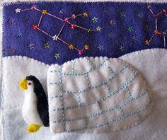 Penguin & Igloo Quiet Book Page