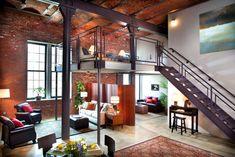 Fuck Yeah, Awesome #Houses! - #Exposed #Brick Brewery #Loft #tijolinhos #rusticos #rustic #bricks #tijolos #ceramic #facing #brick #clinker bricks #klinker #bricks #ladrillo #caravista #avista #tijolo #face à #vista #brick #face in #sight