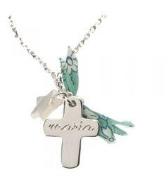El toque liberty transforma este collar! Exito total para regalos de primeras comuniones