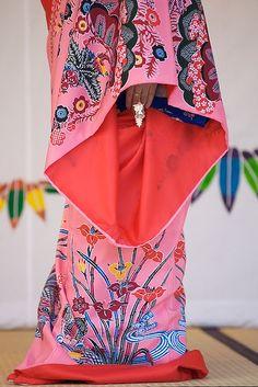 Costume of Ryukyu Dance in Okinawa, Japan