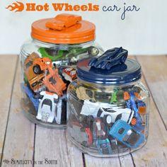 Hot Wheels car jar tutorial