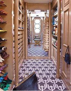 Kelly Wearstler closet + rug