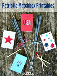 BLISSFUL ROOTS: Patriotic Matchbox Printables {@ twelveOeight}