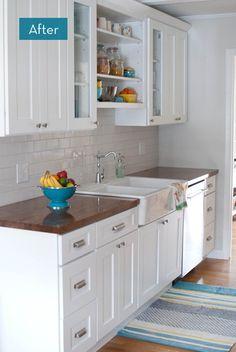 Open shelving over sink
