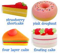 Sponges for the kitchen in dessert shapes