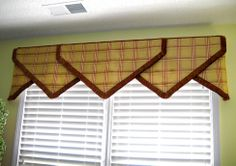 #windowtreatments  Our Point Valance with brush fringe