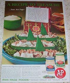 1962 vintage ad A&P Salad