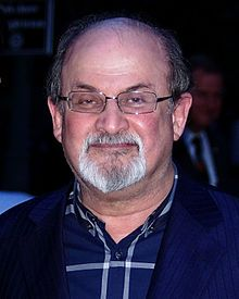 """Salman Rushdie, author, known for his novel """"Midnight's Children"""" which won various awards. (King's College, Cambridge)"""