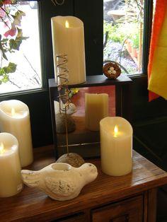 Let your love light glow Luminara fireless pillar candles