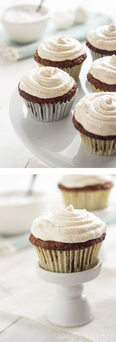 Carrot Cake Cupcakes {Gluten Free + Lower Fat} - Food Faith Fitness