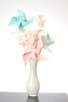 large shabby chic pinwheel bouquet