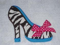 High Heel    machine embroidery applique design by AppliqueFrenzy, $3.99