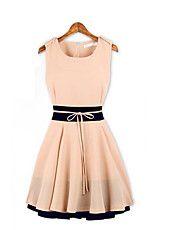 Empalme del color del mini vestido de la colm... – USD $ 18.89