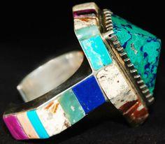 San Francisco Peak bracelet by Hank Whitethorne (Diné)