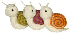 Cómo tejer caracoles a crochet en la técnica del amigurumi (amigurumi snail)!