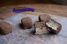 Homemade & Healthy Almond Joys + vegan option   #healthydessert