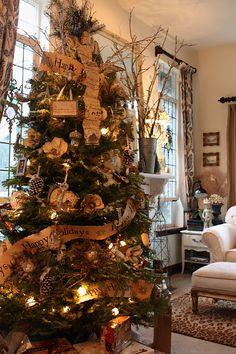 wonderful rustic decorated tree
