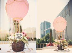 Hot air balloon center pieces