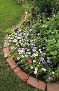 garden edging using bricks