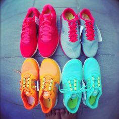 Bright NIKE's!! I want every pair! #awesome