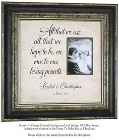 ... Parents Gift, Personalized Wedding, Parent Gifts, Gift Parents