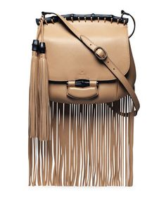 Spring 2014 - Nouveau Leather Fringe Shoulder Bag, Tan by Gucci at Neiman Marcus.