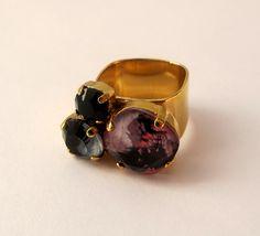 Sabrina Dehoff / Triple Ring Marble Black Pink - Found, Bath