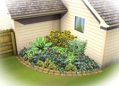 Southeast Gardening:  Corner Garden Plan     By Linda Askey         Here's a colorful corner garden plan for a sunny corner from Lowe's Southeast region gardening contributor Linda Askey.