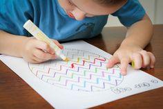 Preschool Letter of the Week E for egg pre-writing practice.