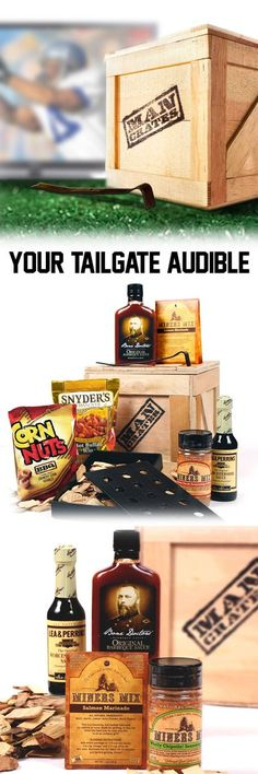 Gameday means grilling! Help your man host a better tailgate with this great grilling gift! #mancrates