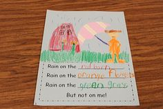 Crazy for First Grade:Rain poem & Read the room (ai and ay)