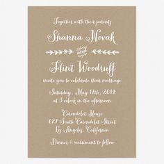 Rustic Country Wedding Invitations www.lovevsdesign.com