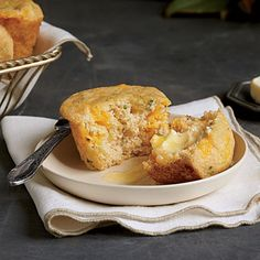 Spoon Bread Corn Muffins | We adapted these custard-like muffins from a recipe in The Gift of Southern Cooking by Edna Lewis and Scott Peacock and tested with J.T. Pollard Extra-Fine White Corn Meal because our friend Scott Peacock swears by it.