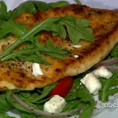 Michael Symon's Chicken Cutlet Milanese with Arugula Salad
