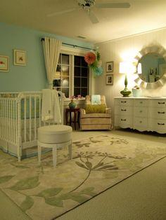 Beautiful serene room for baby