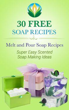 30 Free Melt and Pour Soap Recipes by Natures Garden  http://www.naturesgardencandles.com/blog/30-free-mp-soap-recipes/