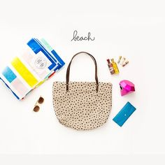 Polka-Dots Carry-All Zip Tote