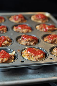Meat Loaf Muffins, love this idea as slicing Meat Loaf can sometimes not be a pretty sight