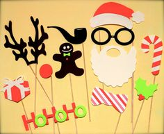 Christmas Photobooth Props by PartyBooth on Etsy, $23.00