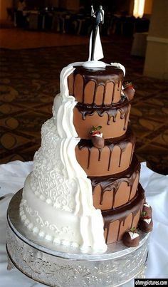 bride/groom cake