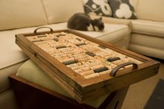 #DIY Wine Cork Serving Tray