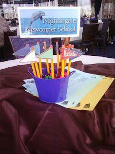 Teacher retirement centerpieces