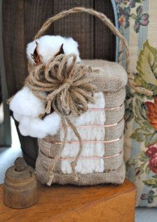 cotton boll centerpiece
