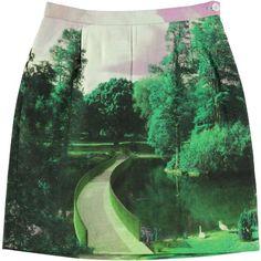 garden paths, cotton skirt