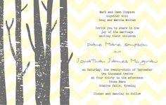 Custom Rustic Wedding Invitation. $12.00, via Etsy.