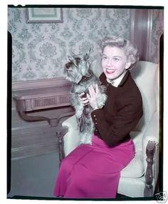 Doris Day and Schnauzer