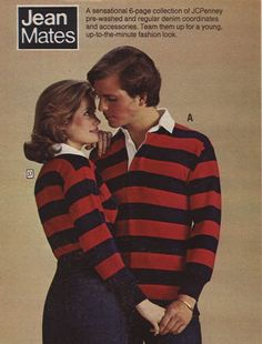 Mid 1970s - Rugby Shirts.  HUGE Trend (1975 - 1977).  Matched up well with Jeans or Painter Pants